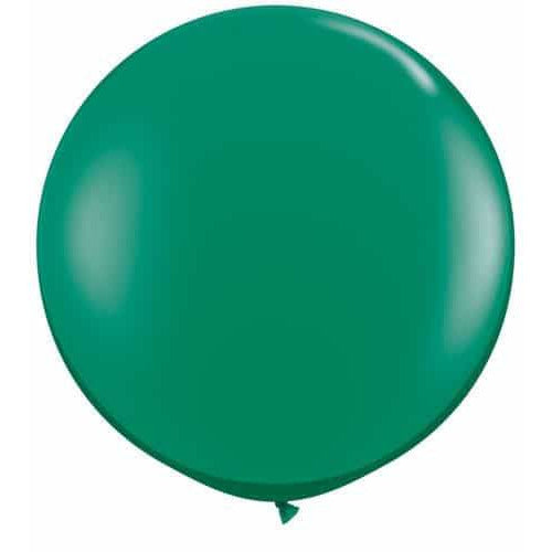Emerald Green Giant Latex Balloons x2