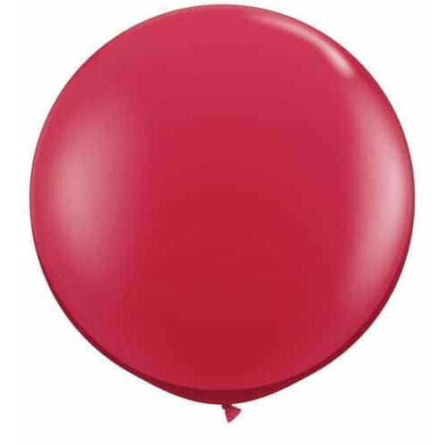 Ruby Red Giant Latex Balloons x2