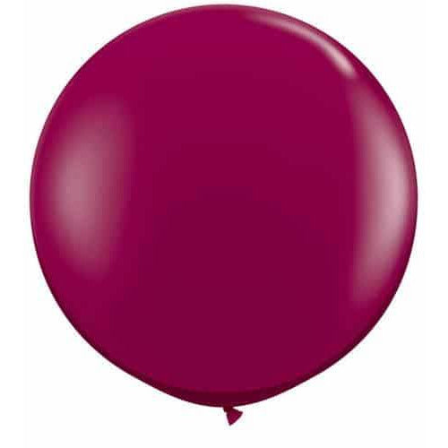 Sparkling Burgundy Giant Latex Balloons x2
