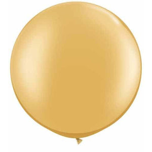 Metallic Gold Giant Latex Balloons x2 - mypartymonsterstore