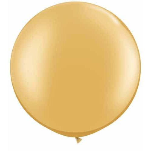 Metallic Gold Giant Latex Balloons x2