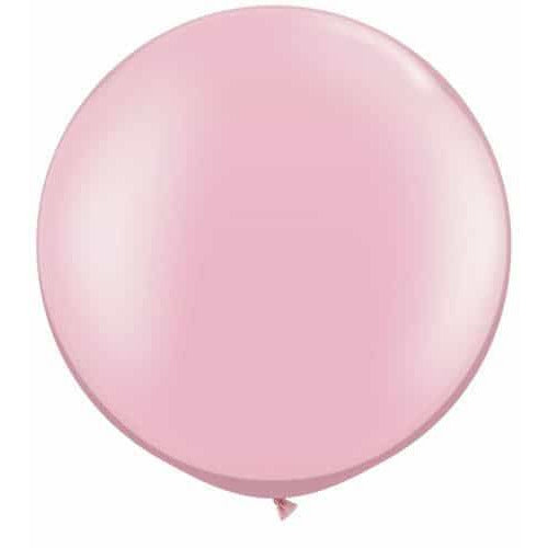 Pearl Pink Giant Latex Balloons x2