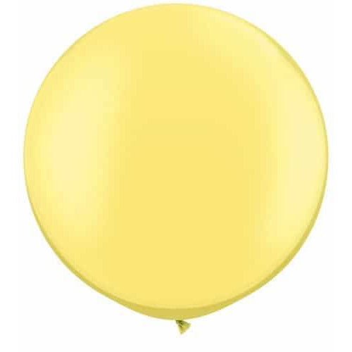 Pearl Lemon Chiffon Giant Latex Balloons x2