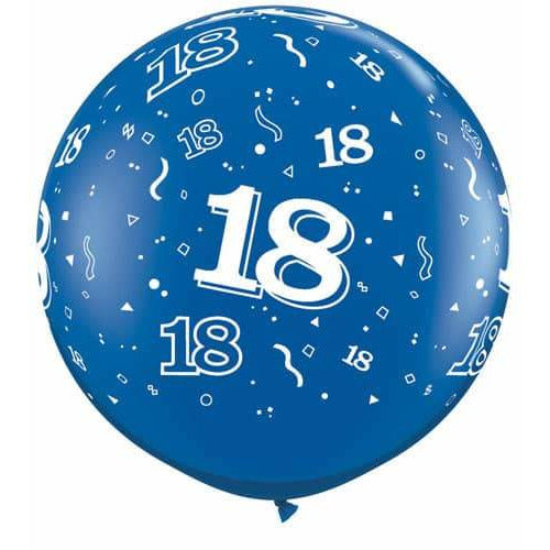 Sapphire Blue 18 A Round Giant Latex Balloons x2