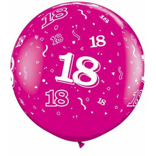Wild Berry 18 A Round Giant Latex Balloons x2