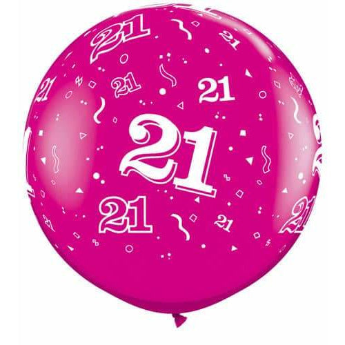 Wild Berry 21 A Round Giant Latex Balloons x2