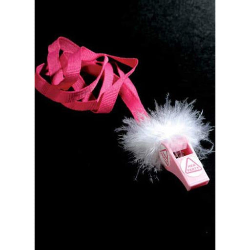 Fluffy Pink Hen Party Whistles