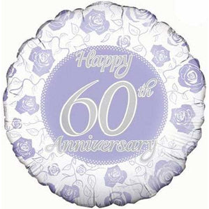 Happy 60th Anniversary Foil Balloon