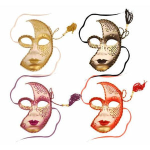 Masquerade Face Mask With Tassel - mypartymonsterstore