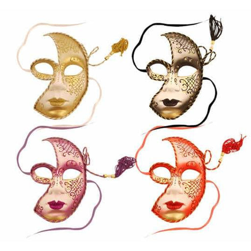 Masquerade Face Mask With Tassel