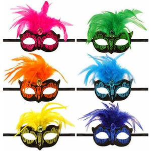 Neon Colour Venetian Eye Mask - mypartymonsterstore