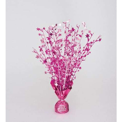 Pink Foil Balloon Weight Centerpiece