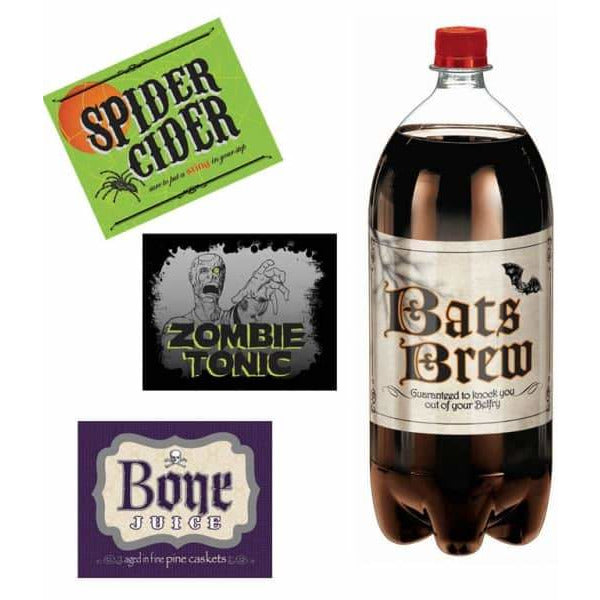 Halloween Bottle Labels x4