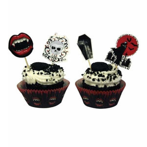Fangtastic Halloween Cupcake Case And Picks