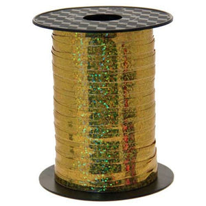 Gold Holographic Curling Ribbon - mypartymonsterstore