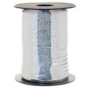 Silver Holographic Curling Ribbon - mypartymonsterstore