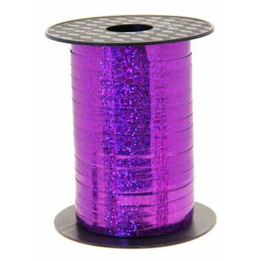 Purple Holographic Curling Ribbon