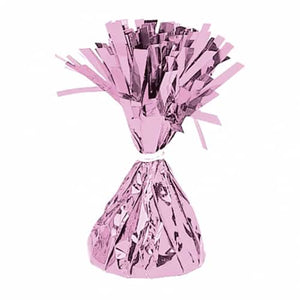 Pink Fringed Foil Balloon Weights