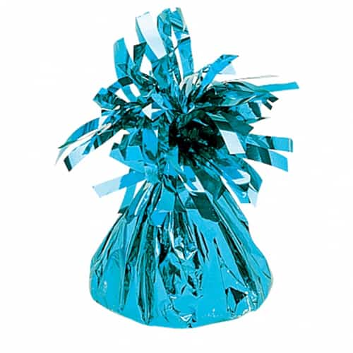 Light Blue Fringed Foil Balloon Weights