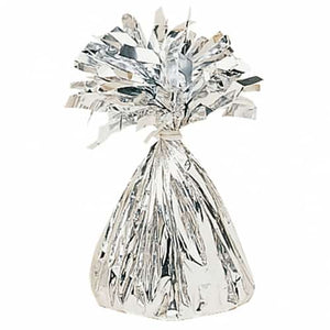 Silver Fringed Foil Balloon Weights