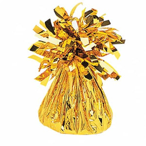 Gold Fringed Foil Balloon Weights - mypartymonsterstore