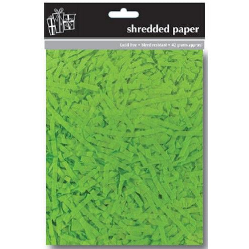 Green Shredded Tissue Paper