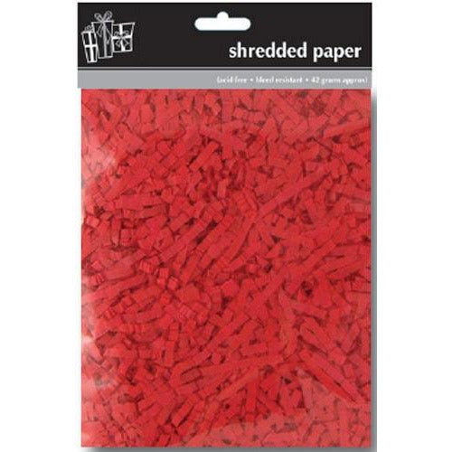 Red Shredded Tissue Paper