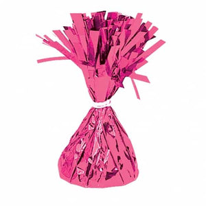 Magenta Fringed Foil Balloon Weights