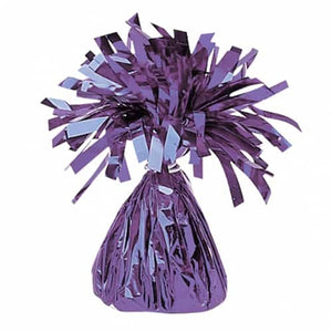Purple Fringed Foil Balloon Weights