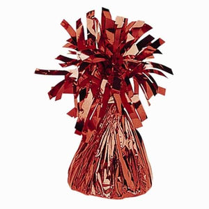 Red Fringed Foil Balloon Weights