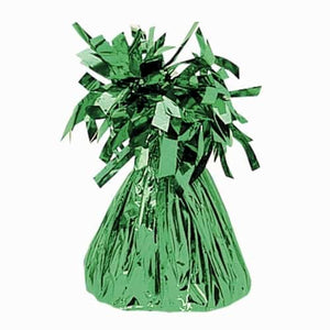 Emerald Green Fringed Foil Balloon Weights
