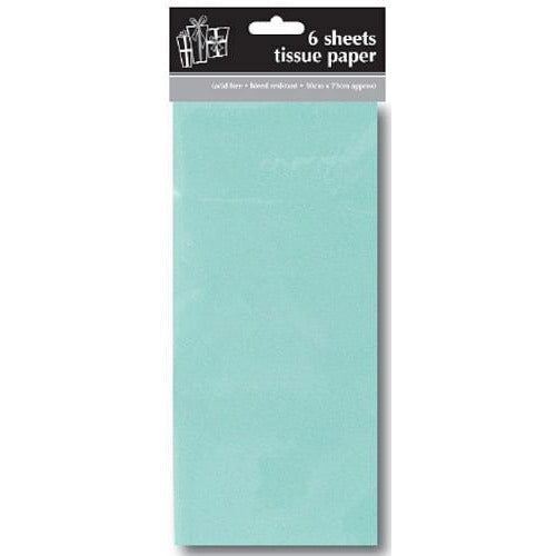 Light Blue Tissue Paper x6 Sheets