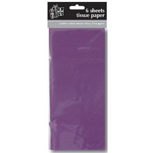 Purple Tissue Paper x6 Sheets