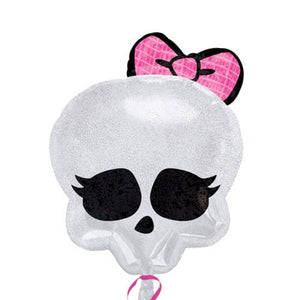 Monster High Skull Junior Shape Foil Balloon - mypartymonsterstore