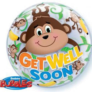 Get Well Soon Monkeys Bubble