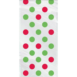 Red And Green Dots Cello Bags x20