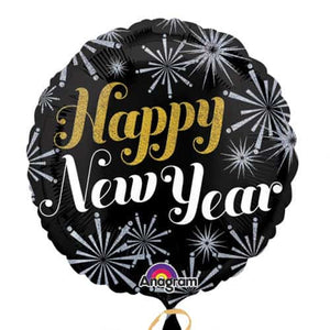 New Year Pizazz Foil Balloons - mypartymonsterstore