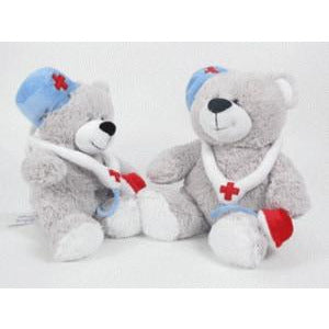 Medical Bear With Syringe 9 inch