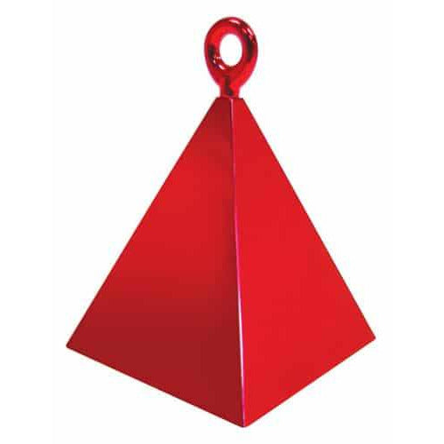 Red Pyramid Balloon Weight