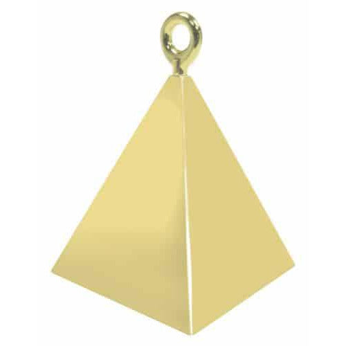 Gold Pyramid Balloon Weight