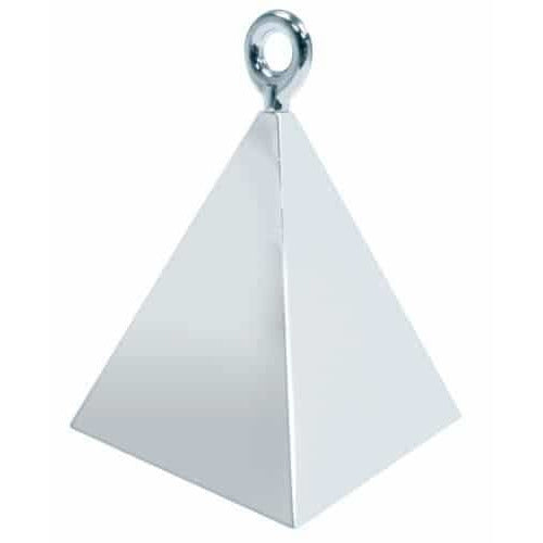 Silver Pyramid Balloon Weight