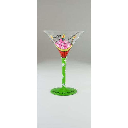Tallulah Chic Happy Birthday Cocktail Glass