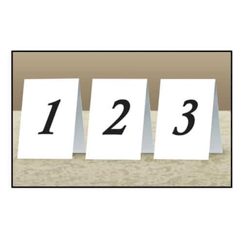 Place Cards 1 to 12