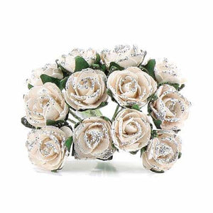 Silver Tea Roses x24 - mypartymonsterstore