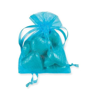 Turquoise Organza Bags x10 - mypartymonsterstore