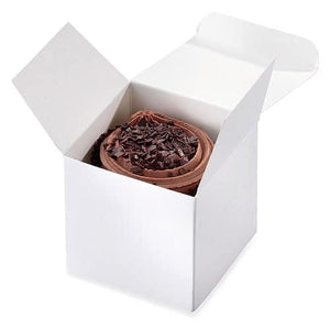 White Cup Cake Boxes x8 - mypartymonsterstore