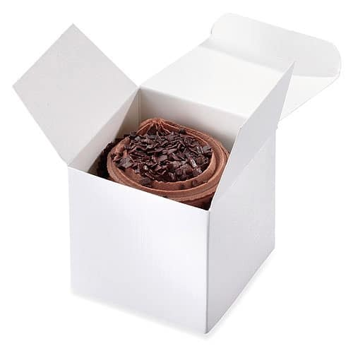 White Cup Cake Boxes x8