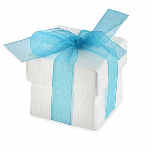 White Favour Box And Lid x10 - mypartymonsterstore
