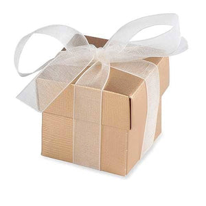 Gold Favour Box And Lid x10 - mypartymonsterstore