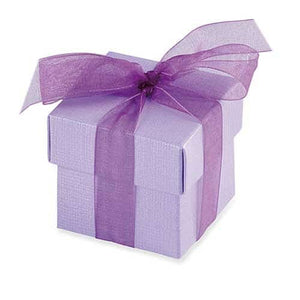 Lilac Favour Box And Lid x10 - mypartymonsterstore